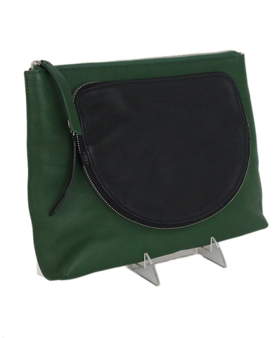 Derek Lam green black white clutch 1