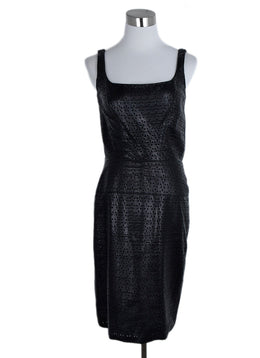Douglas Hannant Black Leather Cutwork Dress 1