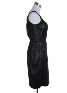 Douglas Hannant Black Leather Cutwork Dress 2