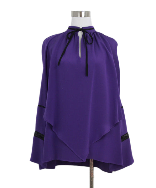 Derek Lam purple silk blouse 1