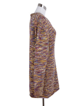 Derek Lam Yellow Purple Wool Cashmere Tunic Sweater 2