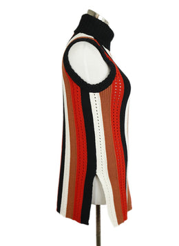 Derek Lam Black Brown Orange White Cotton Sweater 2