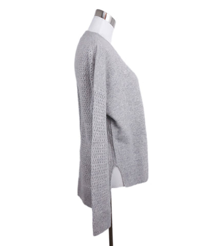 Derek Lam Grey Light Cashmere Knit Sweater 1