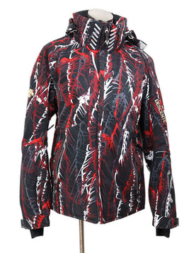 Descente Black Red White Polyester Ski Coat 1
