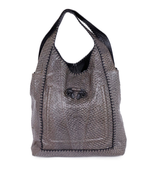 Shoulder Bag Derek Lam Grey Python Handbag 1