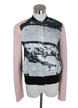 DVF Black Pink Polyester White Black Sequins Jacket 1