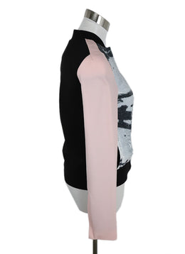 DVF Black Pink Polyester White Black Sequins Jacket 2