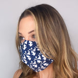 Christian Dior Blue and White Trotter Monogram Silk Mask