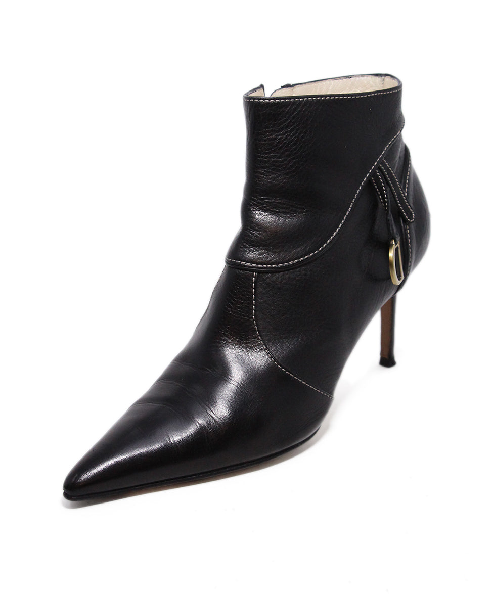 Dior Black Leather Booties 1