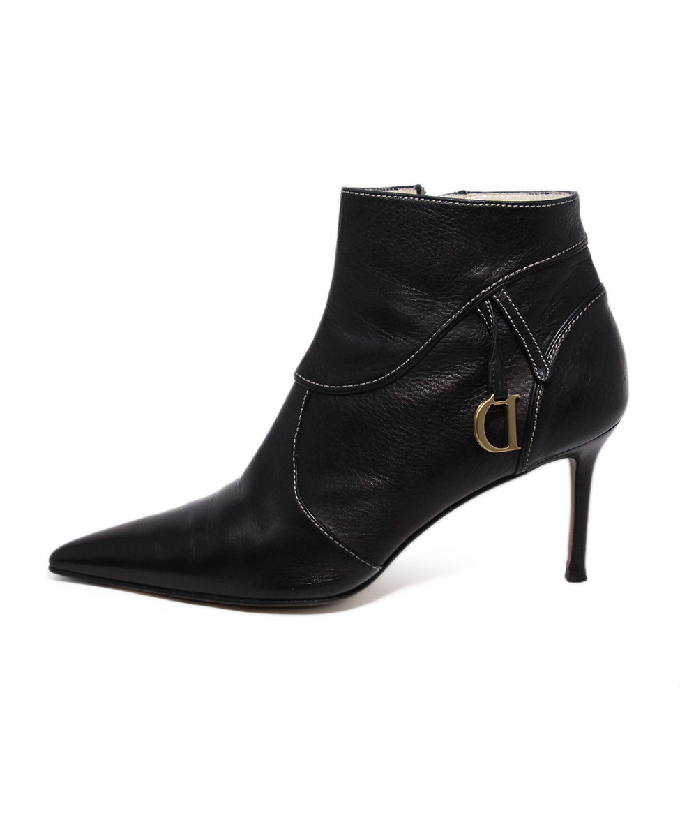 Dior Black Leather Booties 2