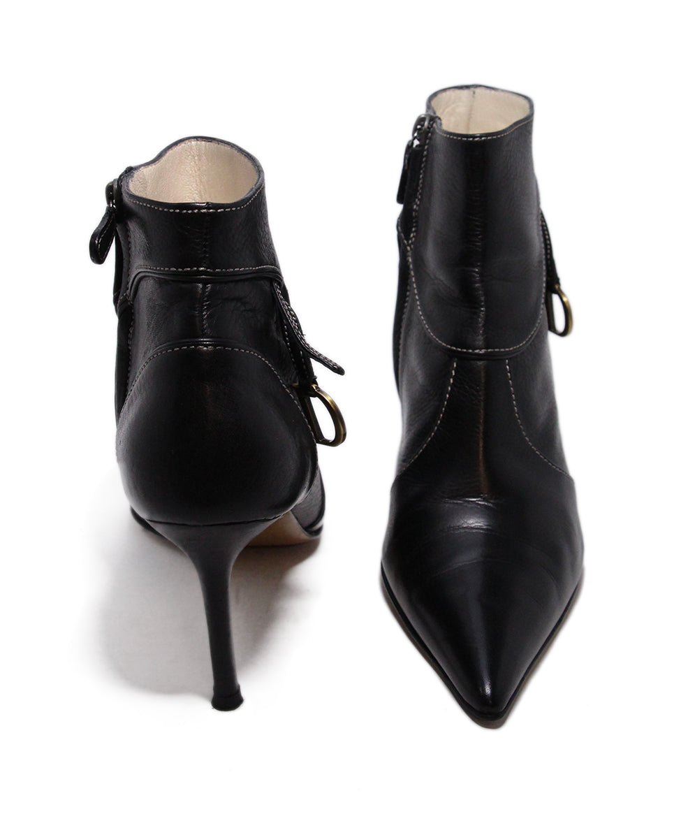 Dior Black Leather Booties 3