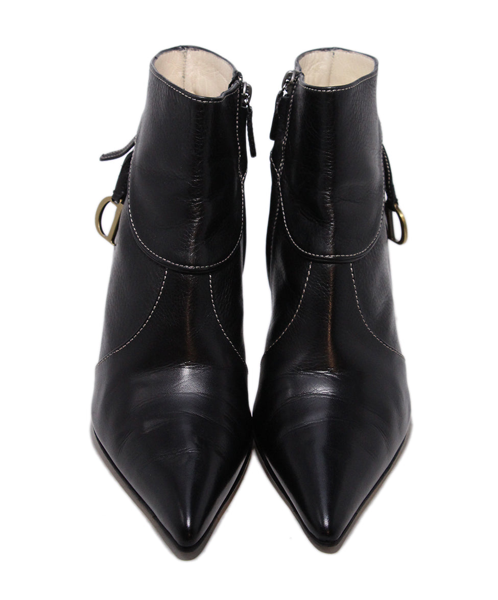 Dior Black Leather Booties 4
