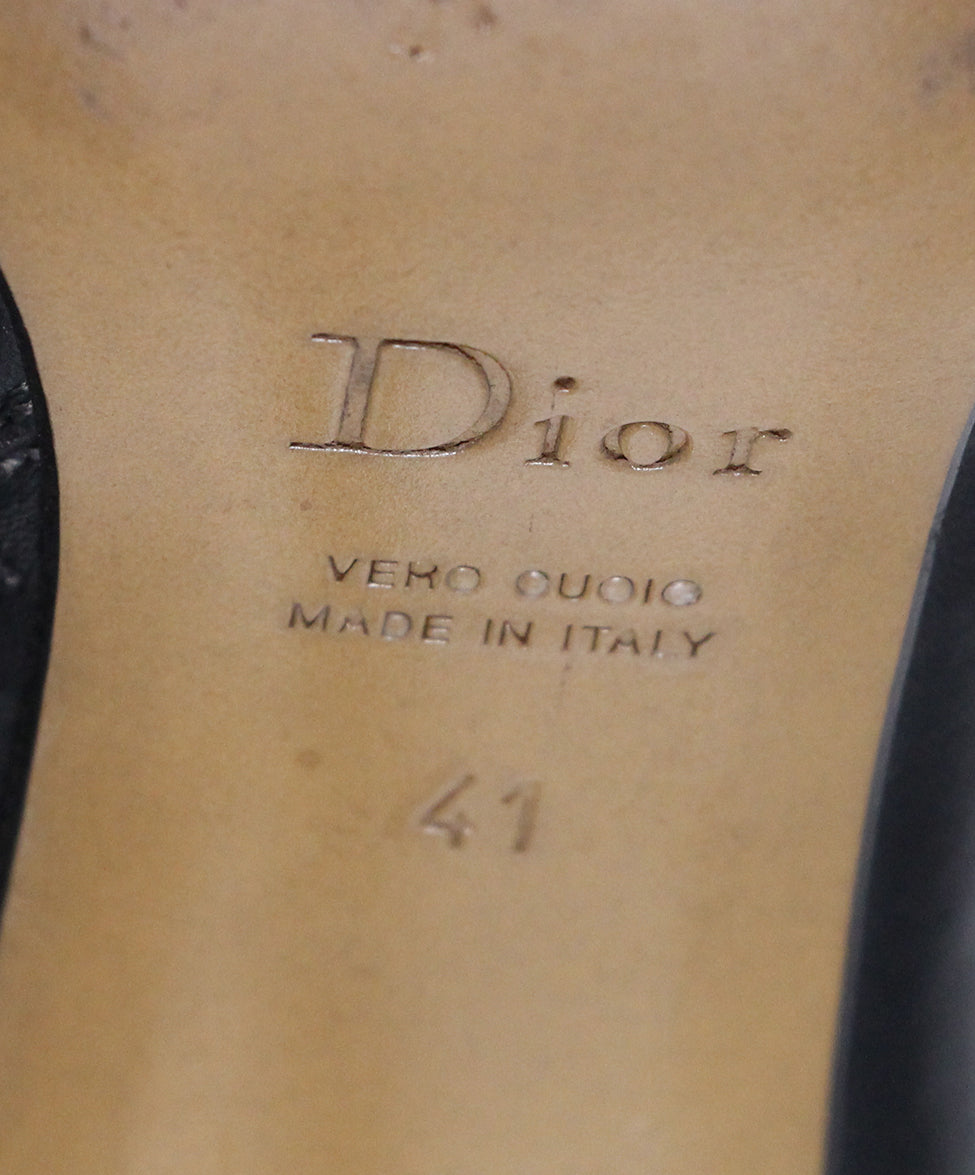 Dior Black Leather Booties 6