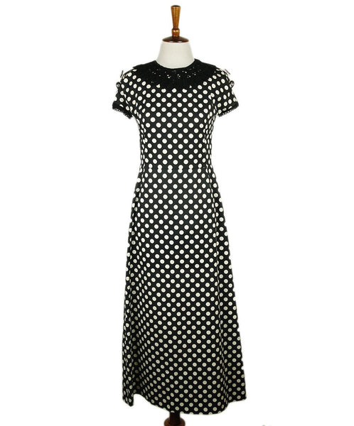 Dolce & Gabbana Black White Cotton Polka Dot Dress Sz 4