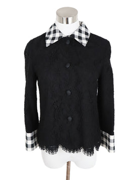 Dolce & Gabbana Black Cotton Lace Jacket 1