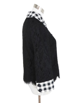 Dolce & Gabbana Black Cotton Lace Jacket 2