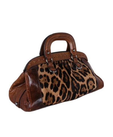 Dolce & Gabbana Animal Print Pony Satchel 1