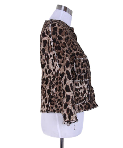 Dolce & Gabbana Brown Leopard Jacket 1