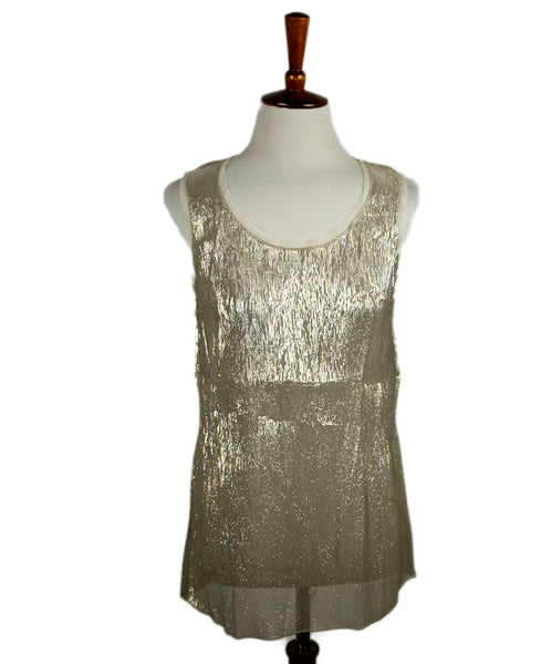 Dolce & Gabbana Metallic Gold Lurex Top Sz 38