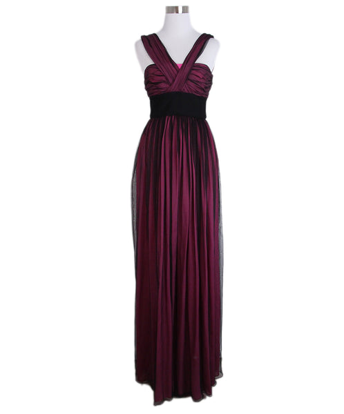 Dolce & Gabbana Pink Black Evening Dress 1