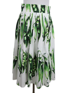 Dolce & Gabbana Green and White Pea Skirt 2