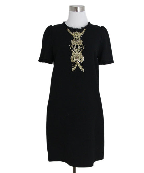 Dolce & Gabbana black gold trim dress 1
