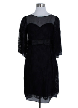 Dolce & Gabbana Size 2 Black Lace Satin Trim Dress 1