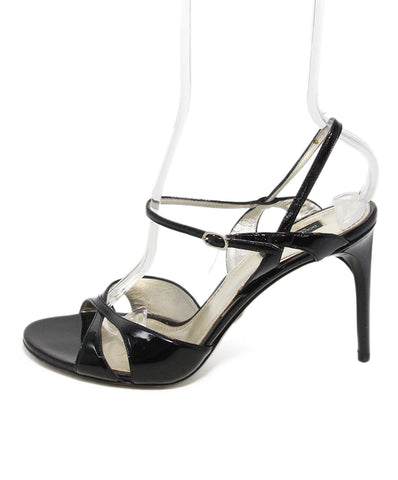 Dolce & Gabbana black patent leather sandals 1