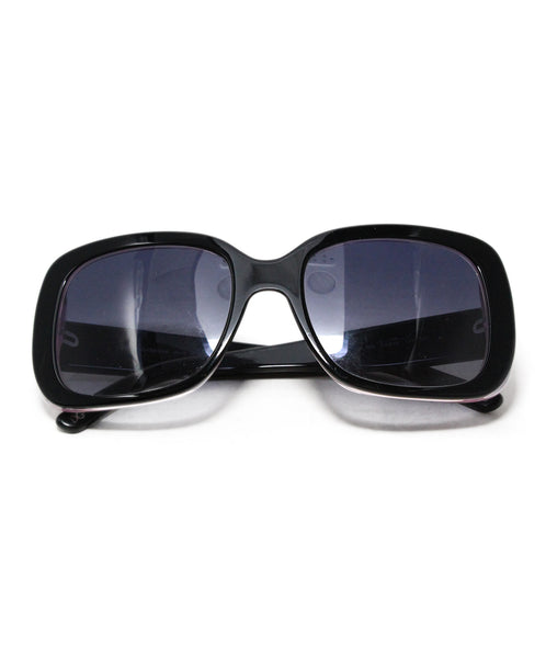 Dolce & Gabbana Black Purple Plastic Sunglasses 1
