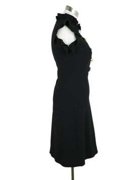Dolce & Gabbana Black Viscose Gem Buttons Dress 2