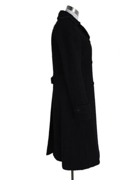 Dolce & Gabbana Black Wool Coat Outerwear 2