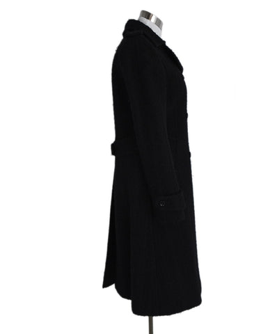 Dolce & Gabbana Black Wool Coat Outerwear 1