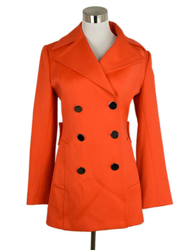 "Dolce & Gabbana Orange Coat ""As Is"" 1"