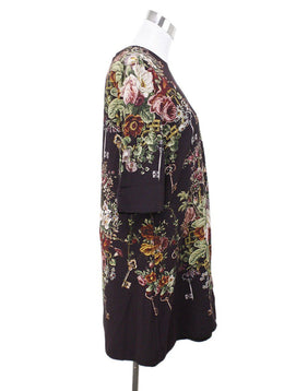Dolce & Gabbana Plum Floral Viscose Dress 1