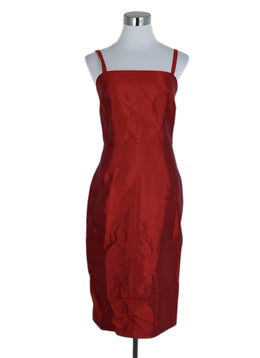 Evening Dolce & Gabbana Red Silk Dress 1