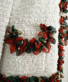 Dolce & Gabbana White Cotton Red Green Floral Jacket 6