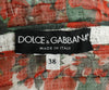 Dolce & Gabbana White Cotton Red Green Floral Jacket 4