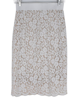 Dolce & Gabbana White Lace Skirt with Slip 1