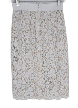 Dolce & Gabbana White Lace Skirt with Slip 2