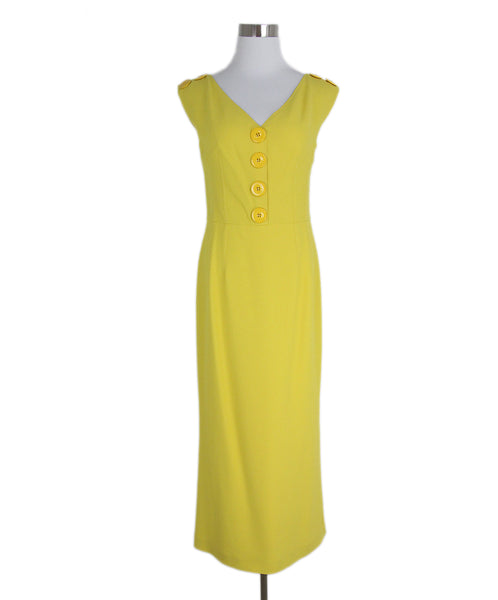 Dolce & Gabbana yellow button dress 1