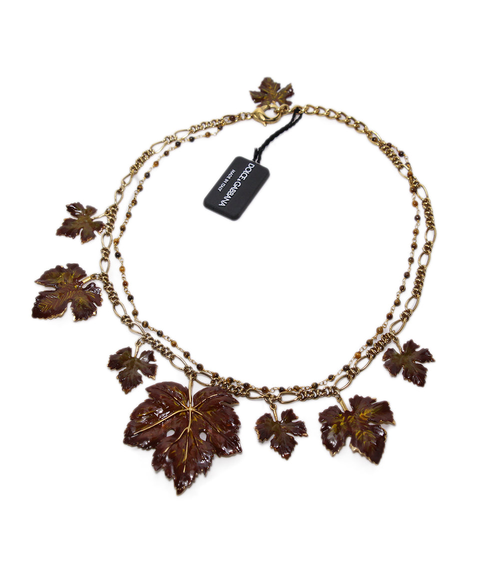 Dolce & gabbana leaf necklace 2