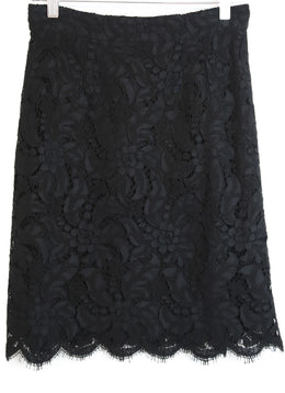 Dolce & Gabbana Black Lace Cotton Viscose Skirt 1