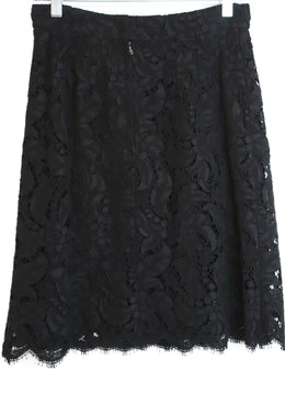 Dolce & Gabbana Black Lace Cotton Viscose Skirt 2