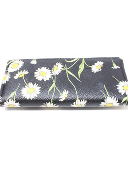 Dolce & Gabbana Black Floral Leather Wallet 2
