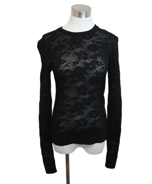 Dolce & Gabbana Black Wool Lace Sweater 1