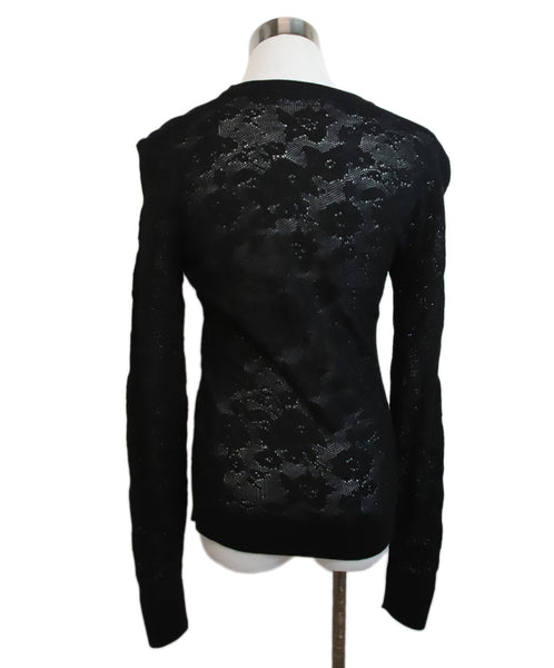 Dolce & Gabbana Black Wool Lace Sweater 3