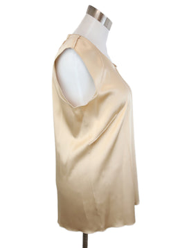 Dolce & Gabbana Neutral Tan Silk Top 2