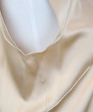 Dolce & Gabbana Neutral Tan Silk Top 6