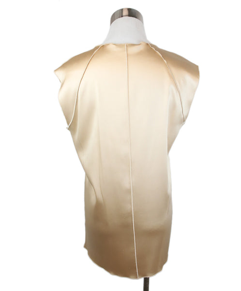 Dolce & Gabbana Neutral Tan Silk Top 3