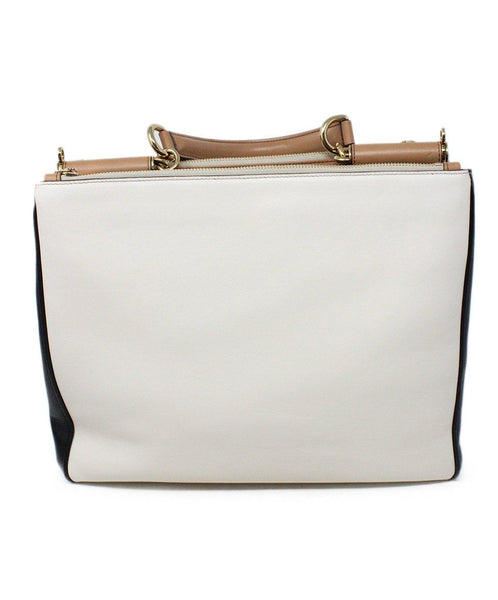 Dolce and Gabbana White and Black Leather Handbag 3